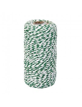 Green and White Cotton...