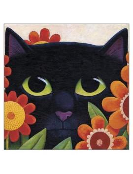 Black Cat Greetings Card