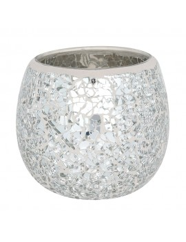Large Silver Crackle...