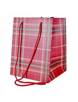 Tartan Hand Tie Bag...
