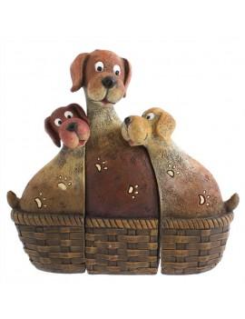 Dog Family in Basket...