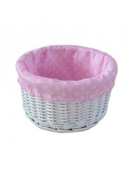 Painted wicker basket...