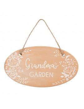Grandma's Garden Terracotta Plaque